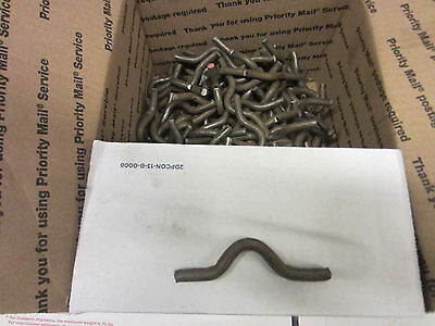 Weld on fence clips size 5/16 by 3/4 inch lot of 200