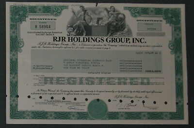 RJR Holdings Group, Inc. 1989 25 USD Bond .