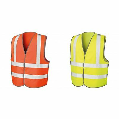 Results Core Boys Girls Kids Hi Vis Viz Visibility Safety Vest Jacket Waistcoat