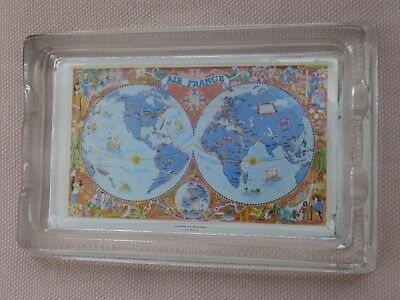 Ancien Cendrier  Air  France  Planisphere  A. Gerrer  Mulhouse.