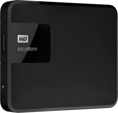 WD - easystore® 4TB External USB 3.0 Portable Hard Drive - Black