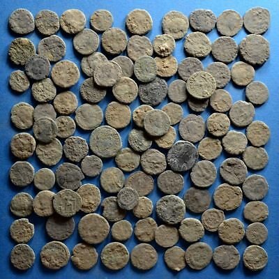 Lot of 110 Uncleaned Roman Bronze Coins