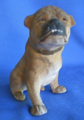 Vintage American Bulldog Bisque Figurine 3 1/2 inches Tall