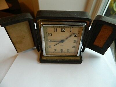 Vintage Smiths 7 Jewels Travelling Alarm Clock in case