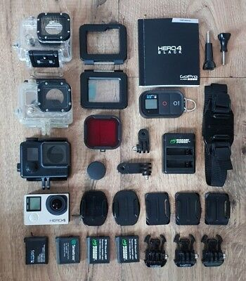 GoPro Hero 4 Black and Feiyutech G4S Gimbal with lots of accessories remote etc