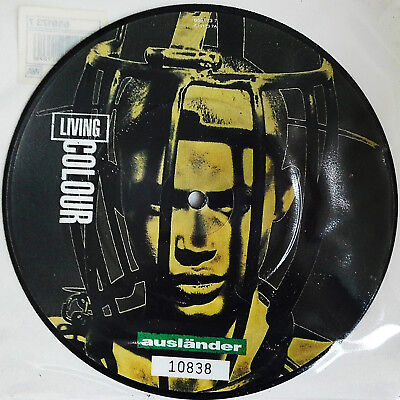 """LIVING COLOUR - NR.10838  Limited Edition 7""""Picture Disc """"Ausländer"""""""
