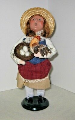 BYERS' CHOICE LTD, 2008 CAROLERS - Girl with hen and nest/eggs