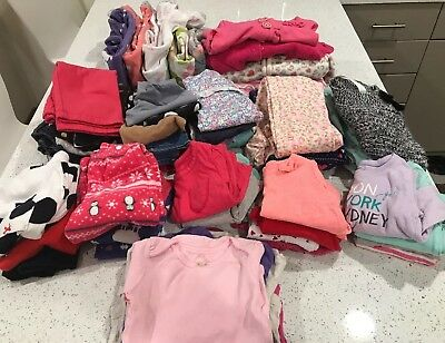Lot Of 12 Month Girls Winter/Fall (54 Items)