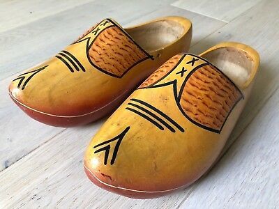 Vintage Wooden Clogs - traditional wooden style for fancy dress or practical use