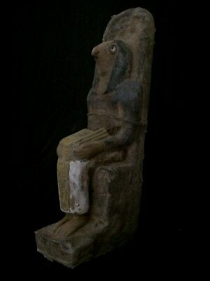 EGYPTIAN ANTIQUES Ancient EGYPT HORUS Statue Sit Falcon GODS Stone 1570–1200 BC