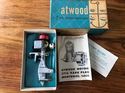 Atwood 051 Outboard Model Boat Engine w/ Original Box in GREAT conditio
