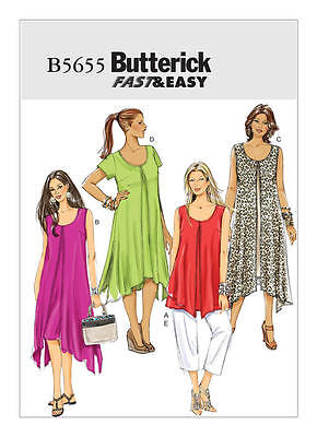 Butterick Sewing Pattern B5655 5655 Misses 18W-24W Easy Loose Dress Top Pants