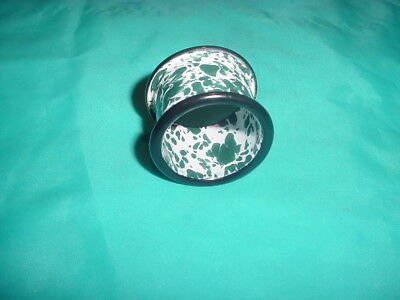 Blue Or Green Enamelware Napkin Ring Age Unknown