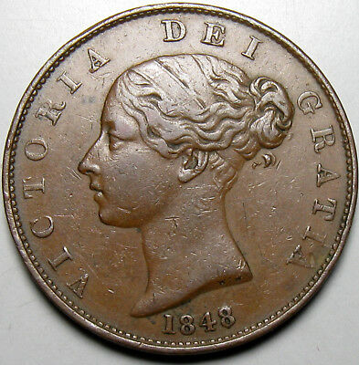1848/7 Great Britain Half Penny