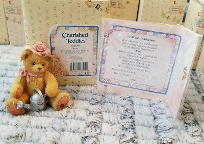 """Cherished Teddies - ROSE 202886 """"Everything's Coming Up Roses"""""""