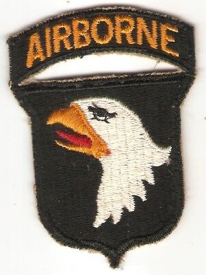 WWII era 101st Airborne Division Patch Attached Tab