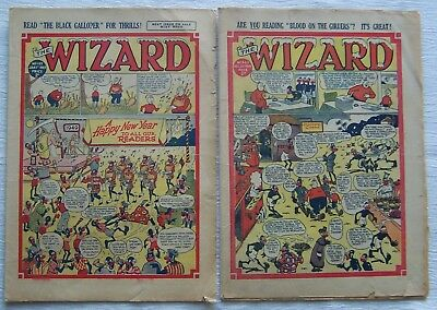Two  Wizard  Comics -  New Year 1941 & 1949