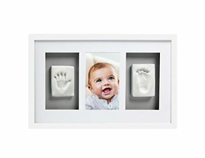 Pearhead Babyprints Newborn Baby Handprint and Footprint Deluxe Wall Photo Frame