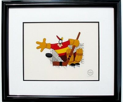 Disney Goofy Hockey Homicide Limited Edition Framed Sericel Cel
