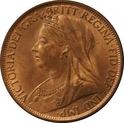 1895 Penny. Uncirculated. F. 141, Dies 1+B. Good Extremely Fine.