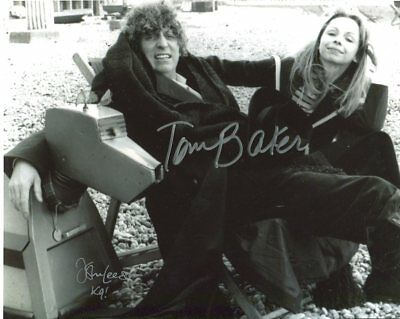 Doctor Who Photo Signed In Person by Tom Baker & John Leeson - E727