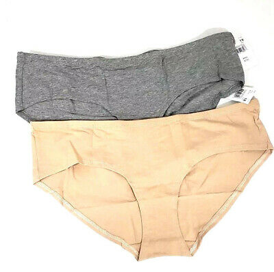 MOTHERHOOD MATERNITY 1X 18 20 Jersey Knit Ruched Back Hipster Panties 2 Pairs