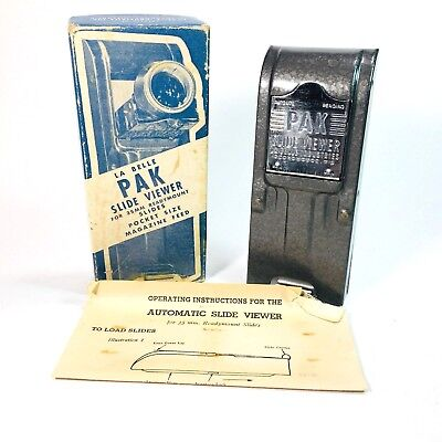 LA BELLE PAK Slide Viewer For 35mm Slides Magazine Feed Ambient No Power Needed