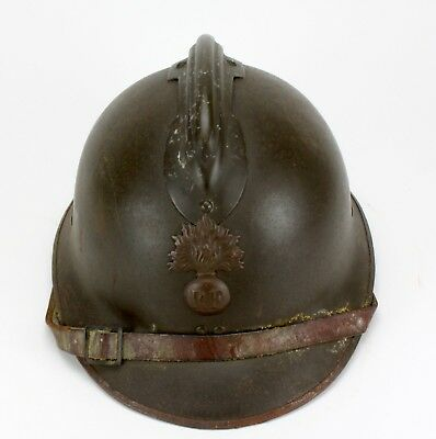 Vintage Wwi French Adrian Military Helmet Rf Infantry #3