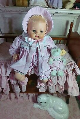 "Big Beautiful Vintage 24"" Madame Alexander Kitten Baby Doll"