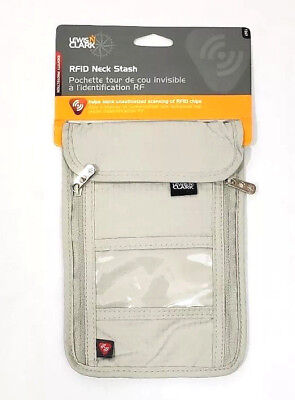 LEWIS N CLARK RFID Blocking Anti Theft Adjustable Strap ID Passport Neck Stash