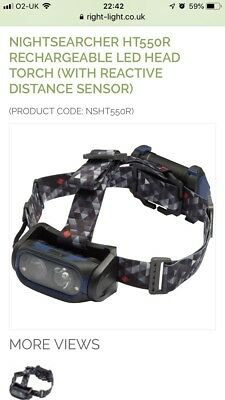 NightSearcher HT55OR Rechargeable LED Head Torch