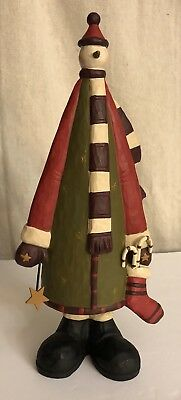 WILLIRAYE STUDIO SNOWMAN FIGURINE w/CANDY CANES, STOCKING & STAR