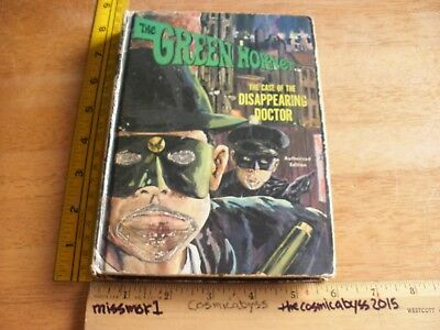 The Green Hornet Disappearing Doctor hardcover book 1966 Whitman G/VG