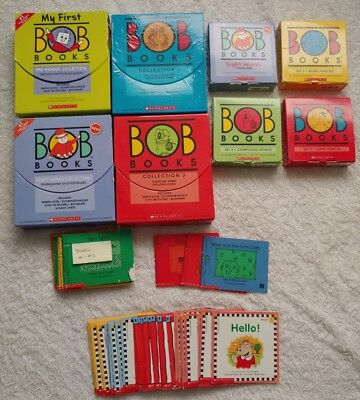 Huge Lot Bob Books Sets Scholastic Pre Reader Kindergarten 1st Grade