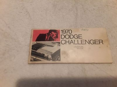 1970 Dodge Challenger Owners Manual User Guide Reference Operator Book Fuses OEM