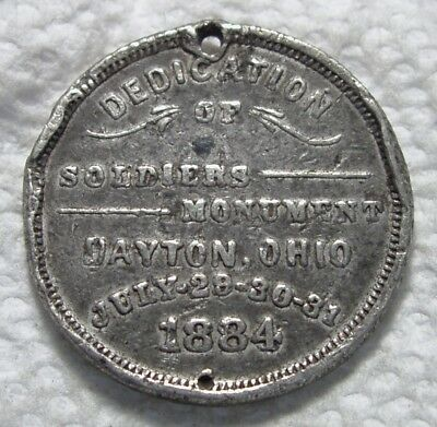 1884 Dayton, Ohio Medal. Dedication of Soldiers Monument.  National Re-Union.