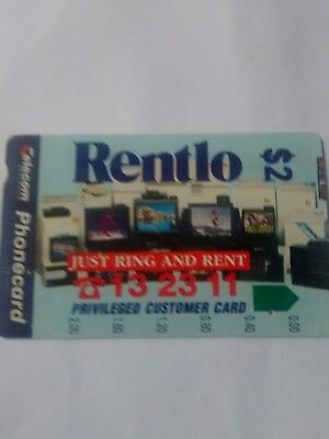 $2 1hole Phonecard Rentlo No 1 Prefix 433