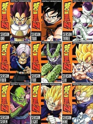 DRAGON BALL Z The Complete UNCUT Series Season 1-9 1 2 3 4 5 6 7 8 9(54-Discs)