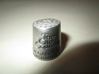 Pewter Busch Gardeans Williamsburg VA The Old Country Thimble Souvenir