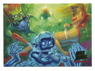 2013 Topps Mars Attacks Invasion Masterpieces #1 Underwater Slaughter