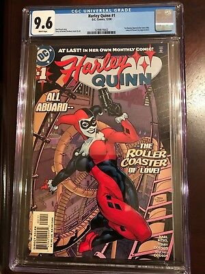 Harley Quinn #1 CGC 9.6 !! WHITE PAGES !! LOOKS LIKE A 9.8 !! BEAUTIFUL COPY !!
