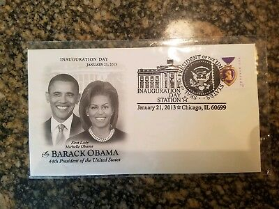 Barack Obama Inauguration Day Jan 21 2013 First Day Cover Chicago