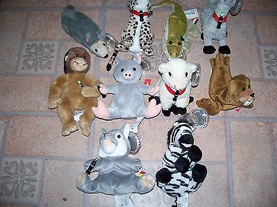 Coca-Cola Set #4 International Bean Bag Plush Collection - Set Of 10 Animals