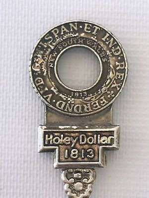 Westpac Museum Holey Dollar Souvenir Spoon in Box Silverplated