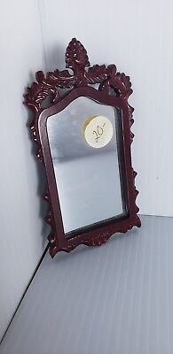 Dollhouse Miniature Fancy Wood Wall Mirror
