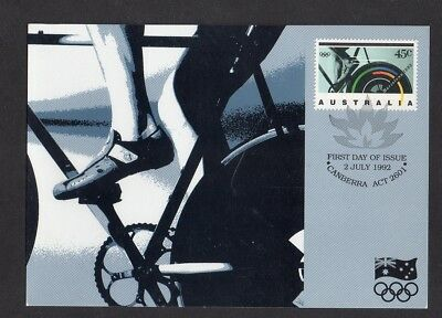 Australia Post Card Bicycle Vic Commonwealth Bank Great Victorian Bike Ride 1992