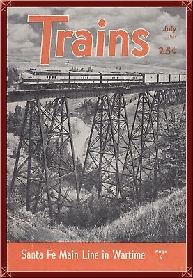 Wwii--Santa Fe Railroad During Wwii!--Very Rare History From 1945! Rare!