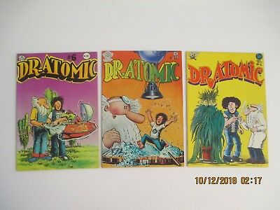 Dr. Atomic #1, 5 And 6 Last Gasp Comic Books