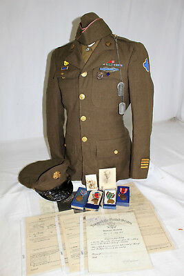 WWII US ARMY 350th INFANTRY Rgt 88th INFANTRY DIVISION UNIFORM NAMED GROUPING