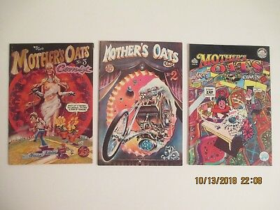 Lot Of (3) Mother Oats Underground Comic Books Rip Off Press (1-3)